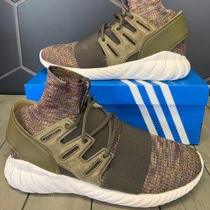 New Adidas Tubular Doom Primeknit Trace Olive Shoe
